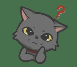 Black cat YORU sticker #228732