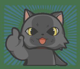 Black cat YORU sticker #228737