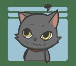 Black cat YORU sticker #228738