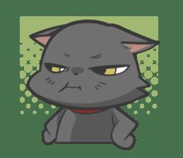 Black cat YORU sticker #228739