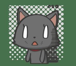 Black cat YORU sticker #228740
