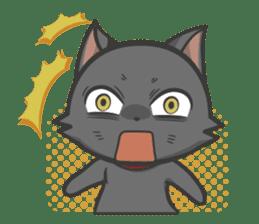 Black cat YORU sticker #228743