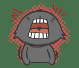 Black cat YORU sticker #228744