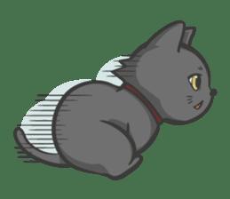 Black cat YORU sticker #228748