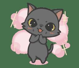 Black cat YORU sticker #228750