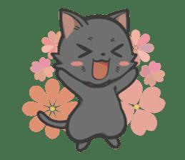 Black cat YORU sticker #228751