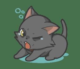 Black cat YORU sticker #228755
