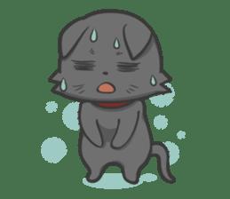 Black cat YORU sticker #228756