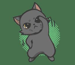 Black cat YORU sticker #228757