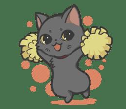 Black cat YORU sticker #228758