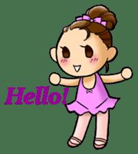 A ballerina's life sticker #229321