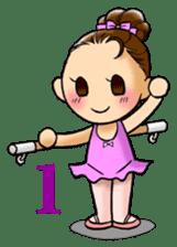 A ballerina's life sticker #229325