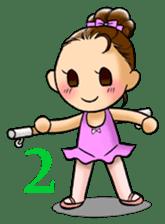 A ballerina's life sticker #229326