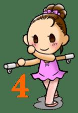 A ballerina's life sticker #229327