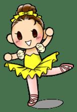 A ballerina's life sticker #229330