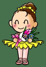 A ballerina's life sticker #229332