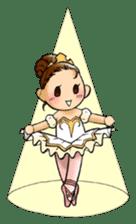 A ballerina's life sticker #229341