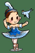 A ballerina's life sticker #229354
