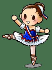 A ballerina's life sticker #229358