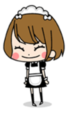 "maid girls ""mirinia."" sticker #230166"
