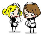 "maid girls ""mirinia."" sticker #230197"