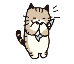 Pouch the cat sticker #233602