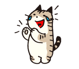 Pouch the cat sticker #233608