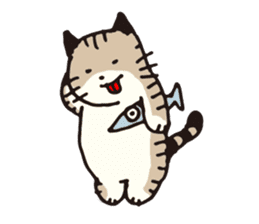 Pouch the cat sticker #233610