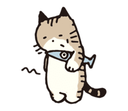 Pouch the cat sticker #233614