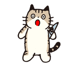 Pouch the cat sticker #233616