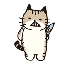 Pouch the cat sticker #233619