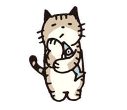 Pouch the cat sticker #233623