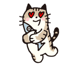Pouch the cat sticker #233636