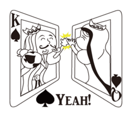 Lover's King&Queen sticker #234123