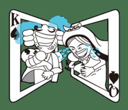 Lover's King&Queen sticker #234127