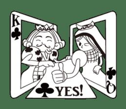 Lover's King&Queen sticker #234143