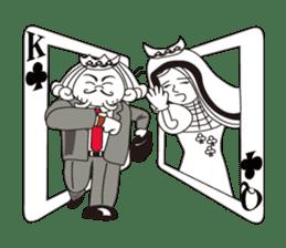Lover's King&Queen sticker #234144