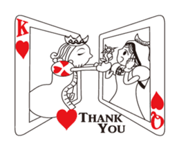 Lover's King&Queen sticker #234152