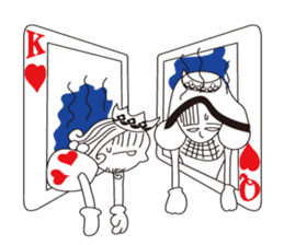 Lover's King&Queen sticker #234154