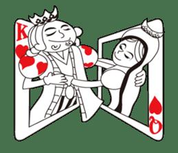Lover's King&Queen sticker #234157