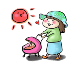 housewife AND baby sticker #235005