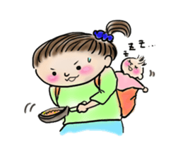 housewife AND baby sticker #235007