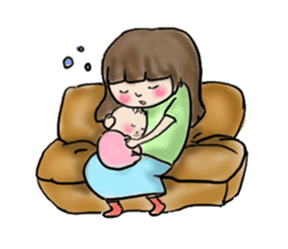 housewife AND baby sticker #235009
