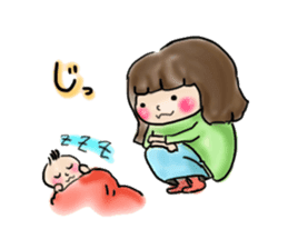 housewife AND baby sticker #235010