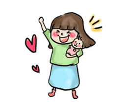 housewife AND baby sticker #235016