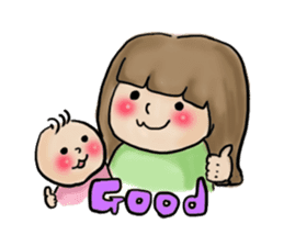 housewife AND baby sticker #235026