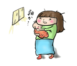 housewife AND baby sticker #235030