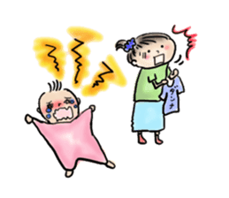 housewife AND baby sticker #235031