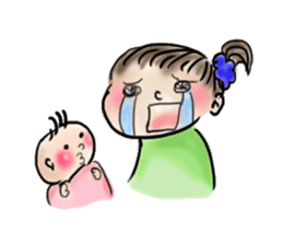 housewife AND baby sticker #235032