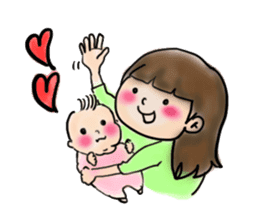 housewife AND baby sticker #235033
